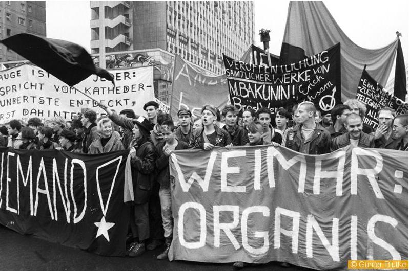 Keine Macht für Niemand! Die Losung der Anarchisten aus Weimar